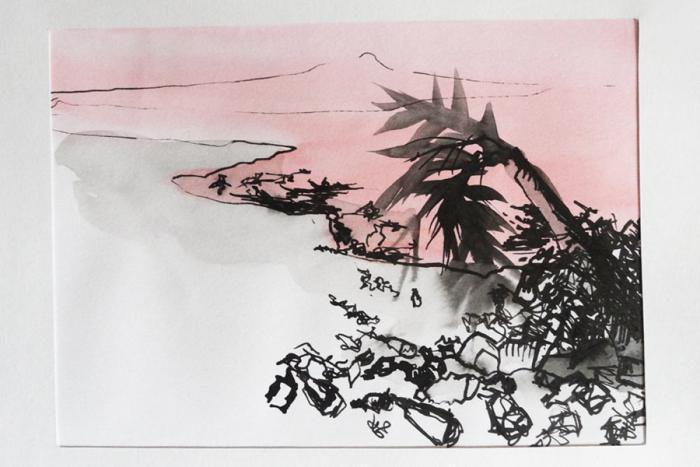 illustration de carte postale - après le passage des Hommes