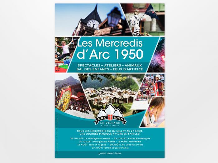 création d'affiche et flyers pour Arc 1950 Le Village