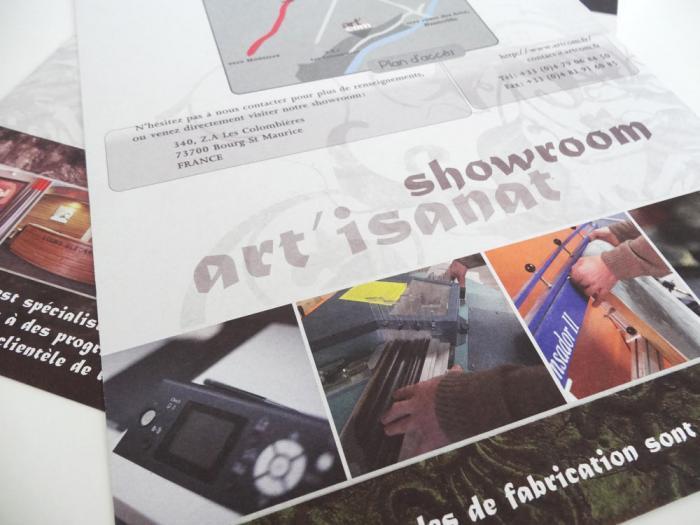 plaquette d'entreprise - artcom bourg st maurice 06
