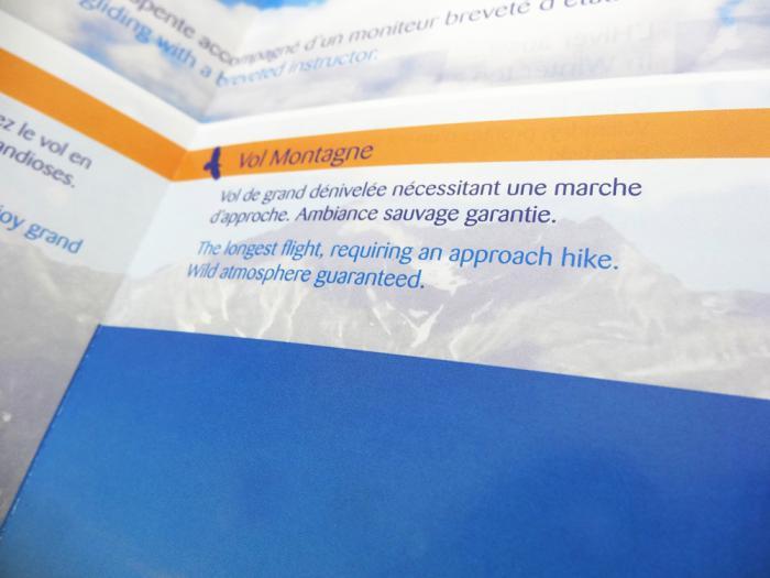 brochures Manu Bon - parapente en savoie