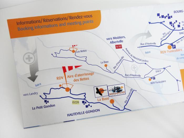 brochures Manu Bon - parapente en savoie - plan RDV