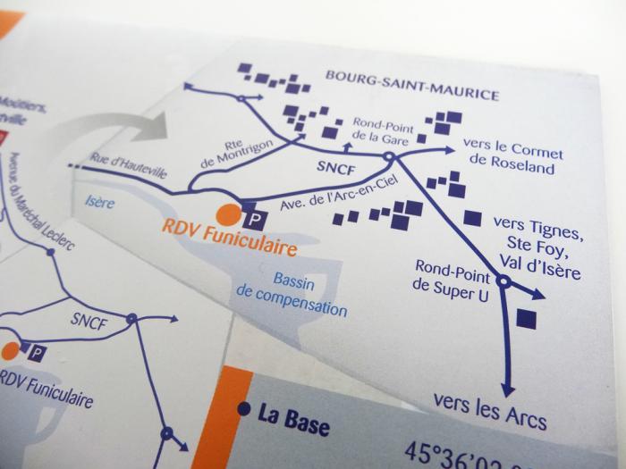 brochures Manu Bon - parapente en savoie - détail plan