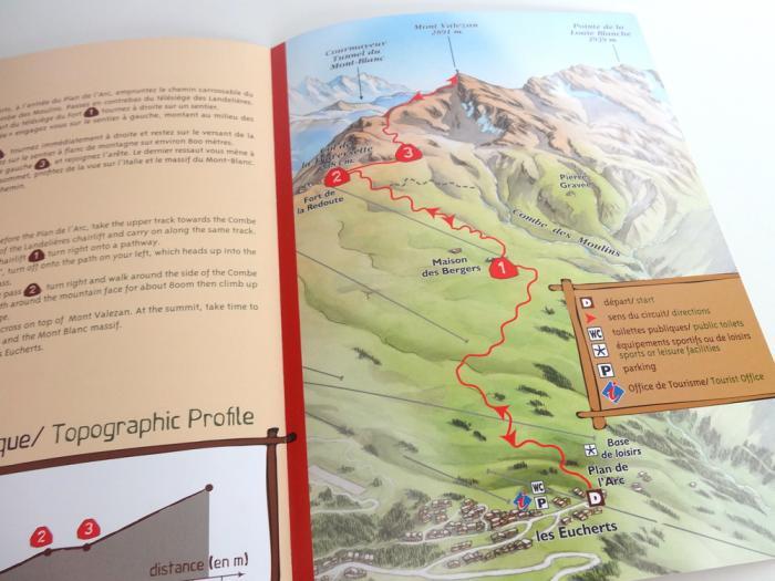 fiches randonnée montvalezan la Rosière - plan