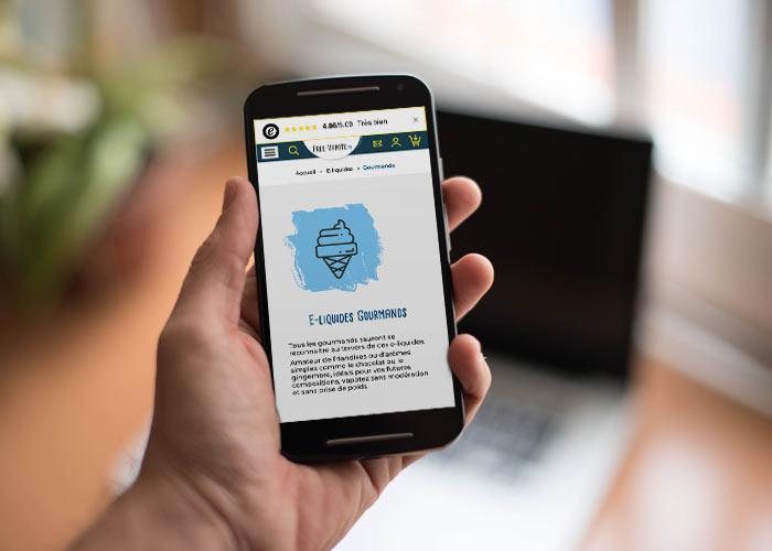 site internet Free-Vapote Aime La Plagne - responsive design mobile first
