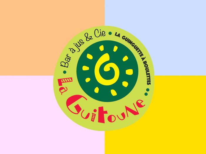 logo La Guitoune - différentes possibilités d'utilisation