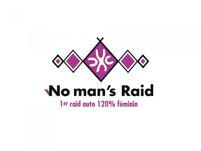 logo No man's Raid - raid auto 120% féminin
