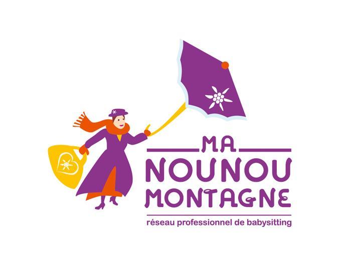 conception de logo en savoie - ici logo pour ma Nounou Montagne