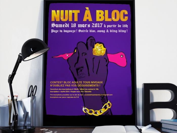 affiche évènementielle à Bourg St Maurice