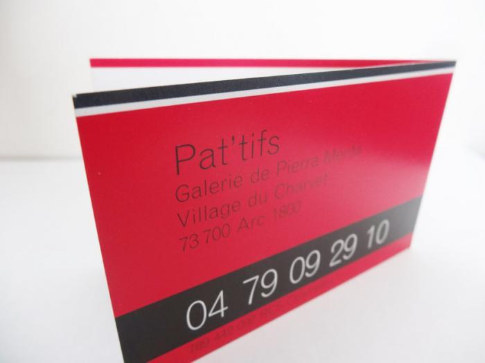 cartes de visite Pat'tifs aux Arcs - contact