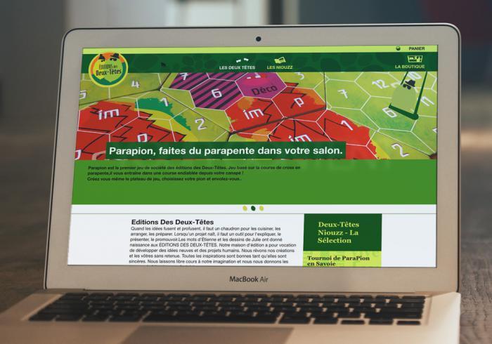 page d'accueil du site des éditions des deux tetes