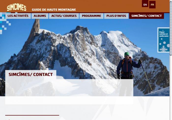 image création du site internet de Simcimes
