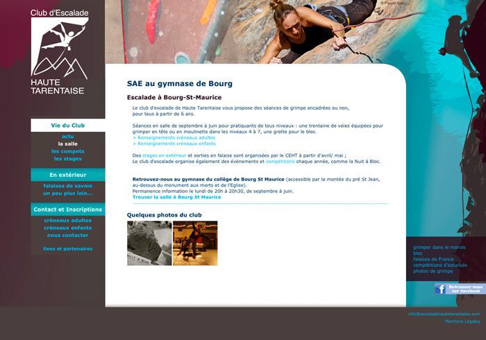 image site vitrine du club d'escalade de haute tarentaise 02