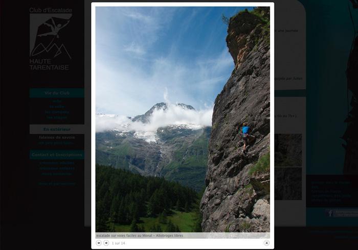 image site vitrine du club d'escalade de haute tarentaise 04