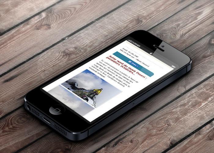 image du site internet bureau des guides des Arcs sur mobile