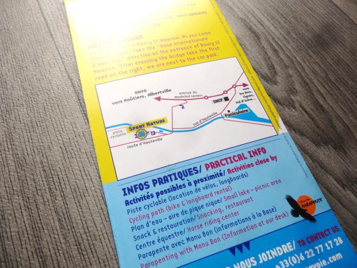 brochure Sport Nature Hauteville - plan de Bourg St Maurice