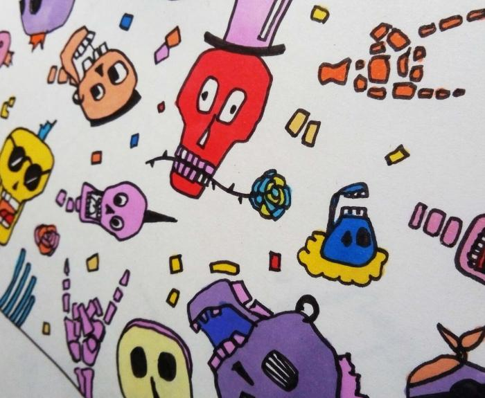 Funky-Craniumz, coloriage by jul