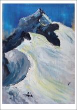 Carte postale représentant le Mont Pourri en Savoie, vu depuis le sommet du Dôme de la Sache.