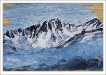 tableau du Roignais vu depuis le versant des Arcs - acrylique sur bois jul