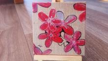 tableau de fleurs peintes - julie loomis
