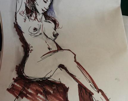 illustration et croquis de nu 05