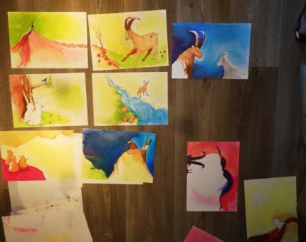 illustrations en cours pour le livre Sambouc