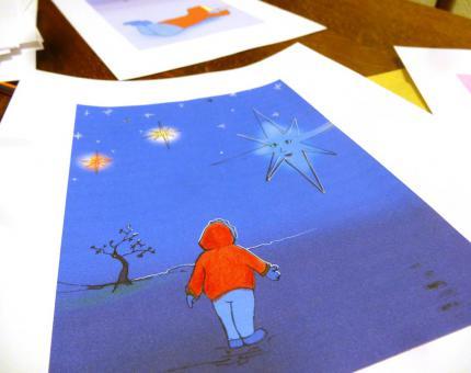 illustration conte Le Cadeau du Ciel - Julie Loomis