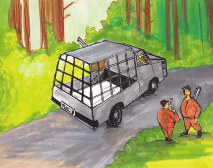 illustration - les Loups n'empruntent pas les routes