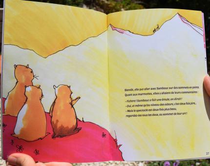 Sambouc le bouquetin - page finalisée du livre imprimé