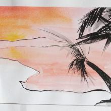 illustration de carte postale